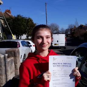 Leah who passed first time.