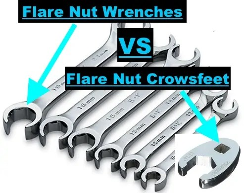 Flare Nut Wrenches Vs  Crowsfoot Wrenches - AGradeTools com
