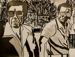 Donnie Brasco, Graphite, ink, and acrylic on paper, 39in x 51in, AnneMarie Graham 2015