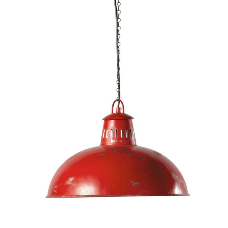 Lampara Campana Roja Techo Vintage Industrial _ AG63  AGRALED