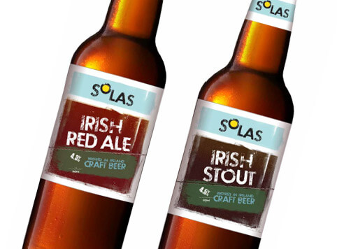 Solas – value craft beer – logo and label design