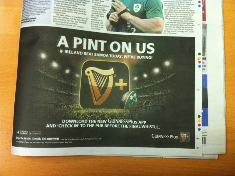 Guinness Series ad campaign_6sheet IrishInd_half-page