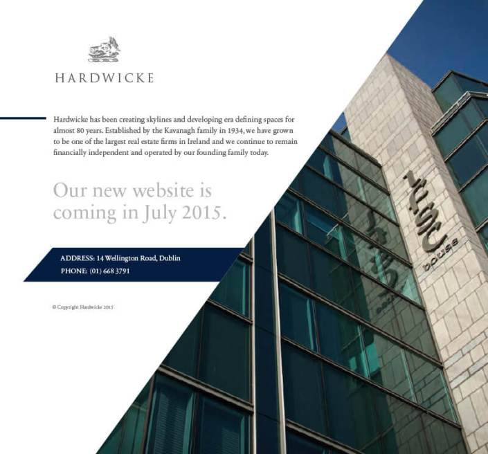 Hardwicke-holding-page, website design by Aga Grandowicz/agrand.ie.