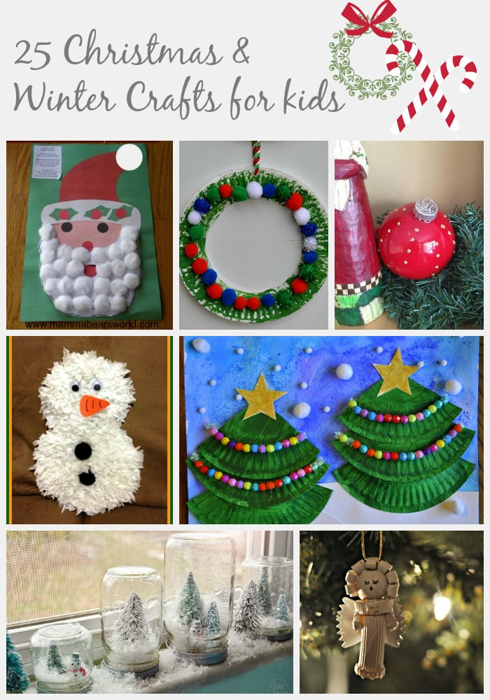 25 Christmas & Winter Crafts For Kids