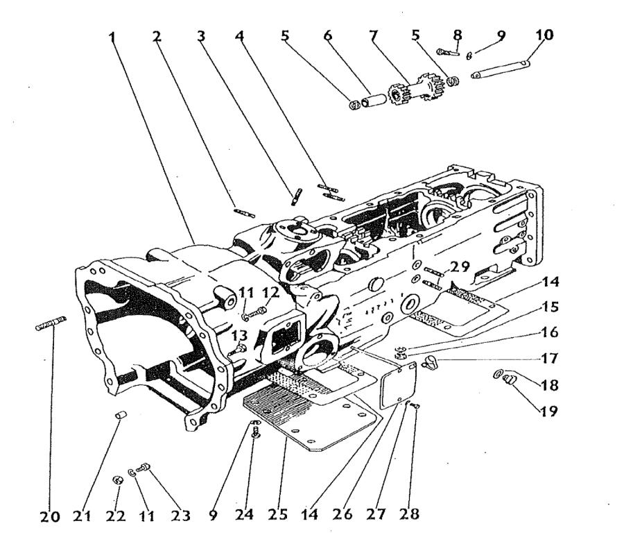 Zetor 5211 Gear box & reverse gear parts » Agrapoint