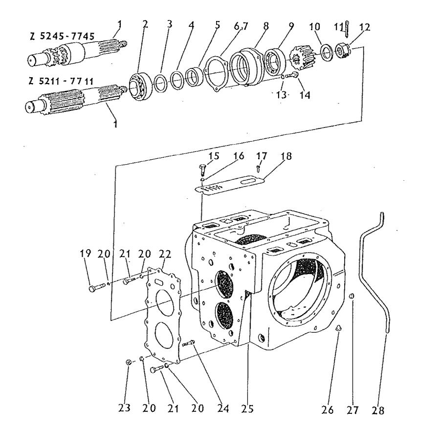 Zetor 5211 Ausgleichsgetriebe Differentialgetriebe