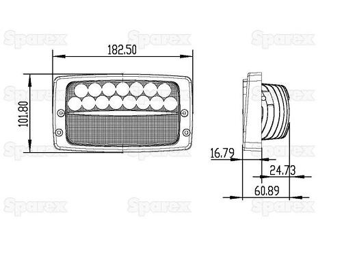 LED Arbeitsscheinwerfer 3280 Lumen Dach Case CVX Tier 1