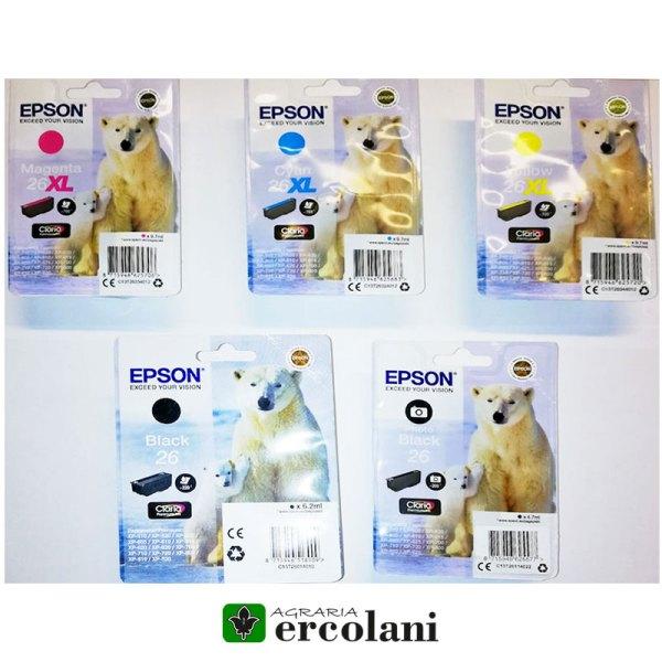 Cartucce Epson 26 Originali - Certaldo