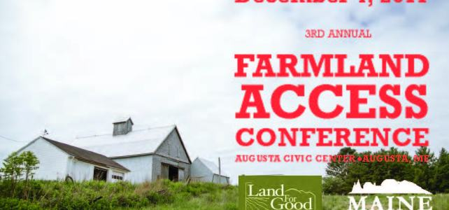 Agrarian Trust presenting at Maine Land Access Conference