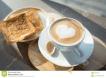 latte and toast