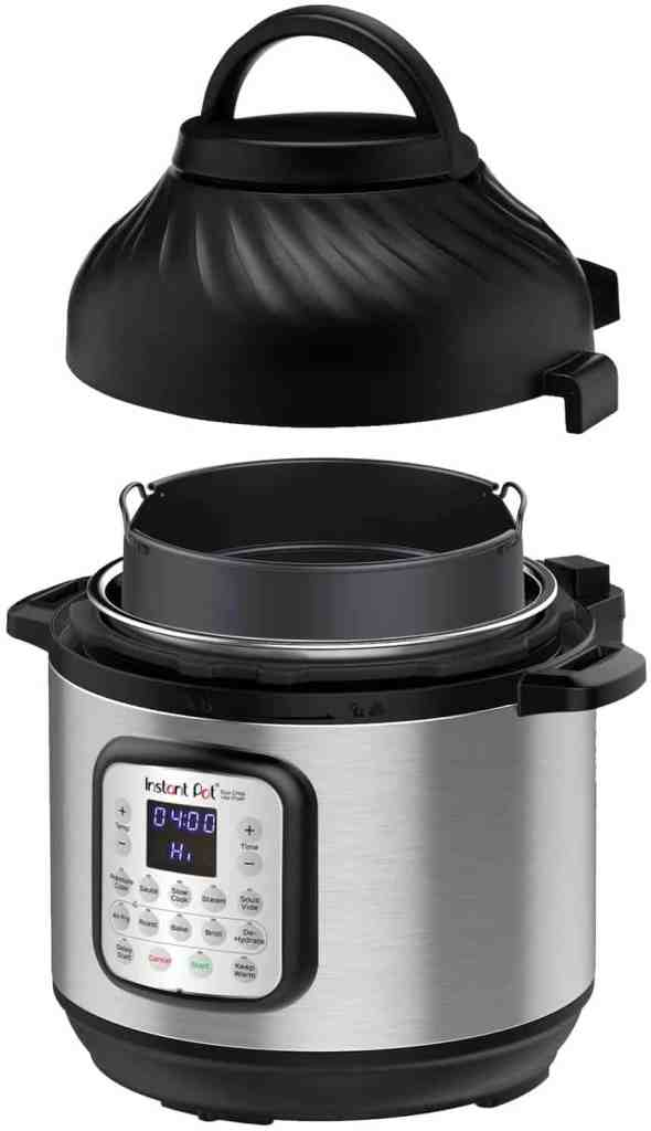 Instant pot with air fryer attachement on sale on prime day