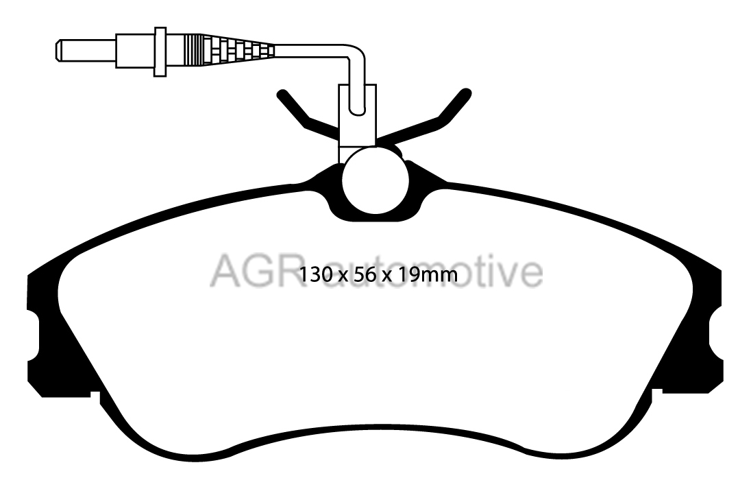 MINTEX FRONT BRAKE PADS MDB1812 FOR CITROEN XSARA ESTATE 2
