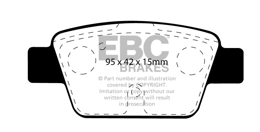 EBC REDSTUFF FRONT + REAR PADS KIT FOR FIAT BRAVO 1.4