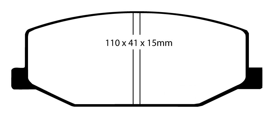 EBC GREENSTUFF FRONT PADS DP2534 FOR SUZUKI JIMNY 1.3 98