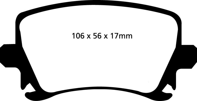 EBC REDSTUFF REAR PADS DP31518C FOR AUDI RS3 2.5 TURBO 335