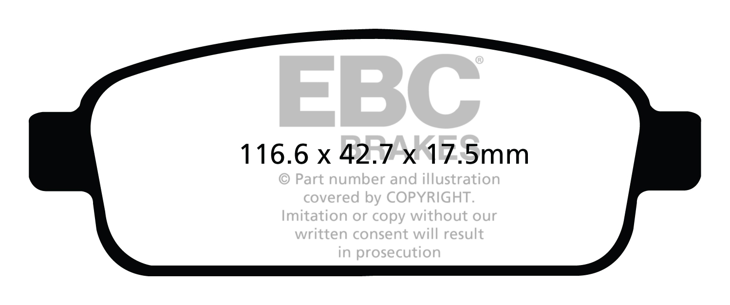 EBC FRONT + REAR PADS KIT FOR CHEVROLET VOLT 1.4/ELECTRIC