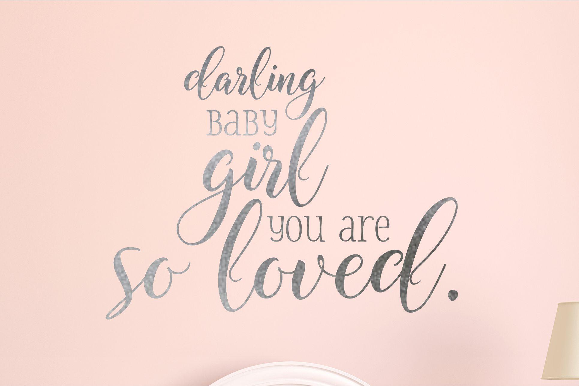 Darling Baby Girl Nursery Wall Decal