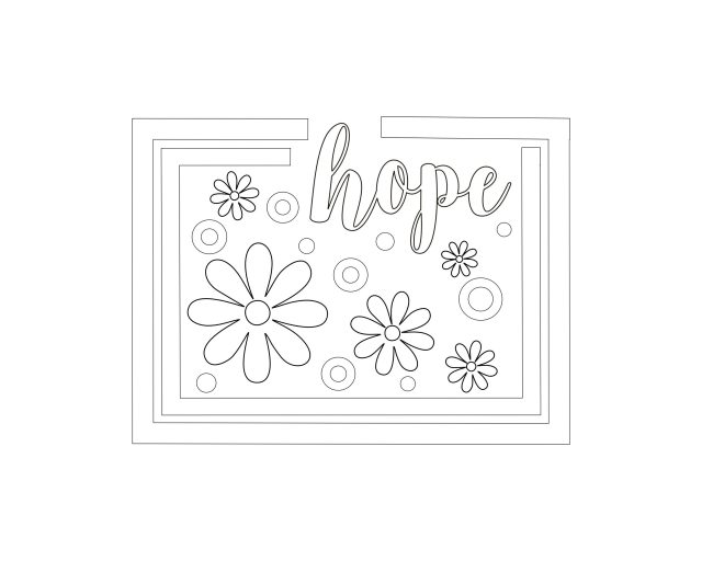 Free Hope Coloring Page  A Great Impression