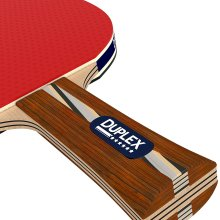 Duplex 6 Star Ping Pong Paddle Set of 2 Table Tennis Rackets with 3 Balls