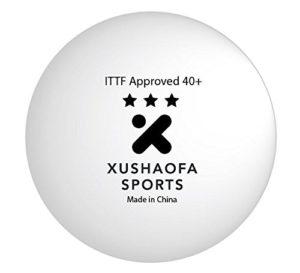 Xushaofa 40+ Seamless Poly Table Tennis Balls - 3 Star