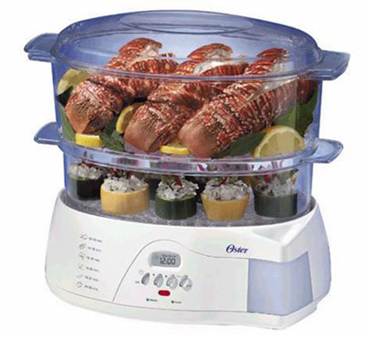2. Oster 5212 Electric 2 -Tier 6.1-Quart Food Steamer, White