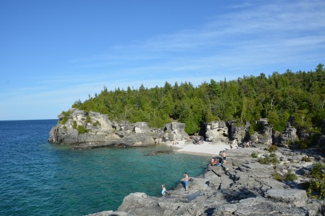 Atop Indian Head Cove