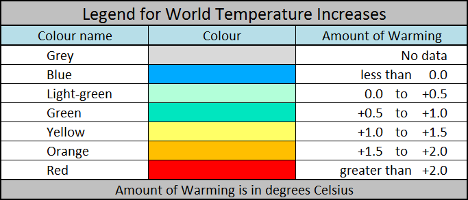 World Temperature Legend