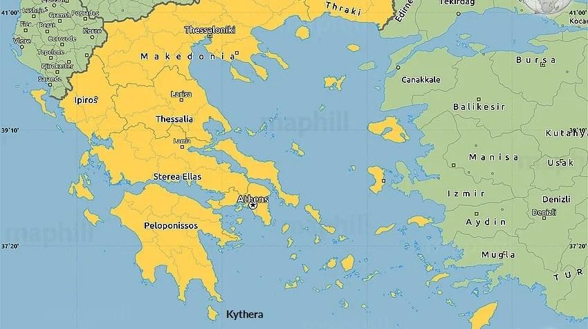 map of greece xenonas