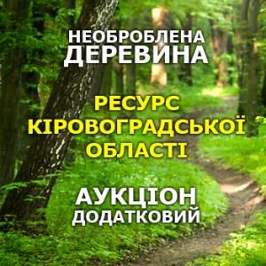 Додатковий аукціон з продажу необробленої деревини (ресурс 1-го кварталу), Кіровоградська область @ Аграрна біржа | Київ | Україна