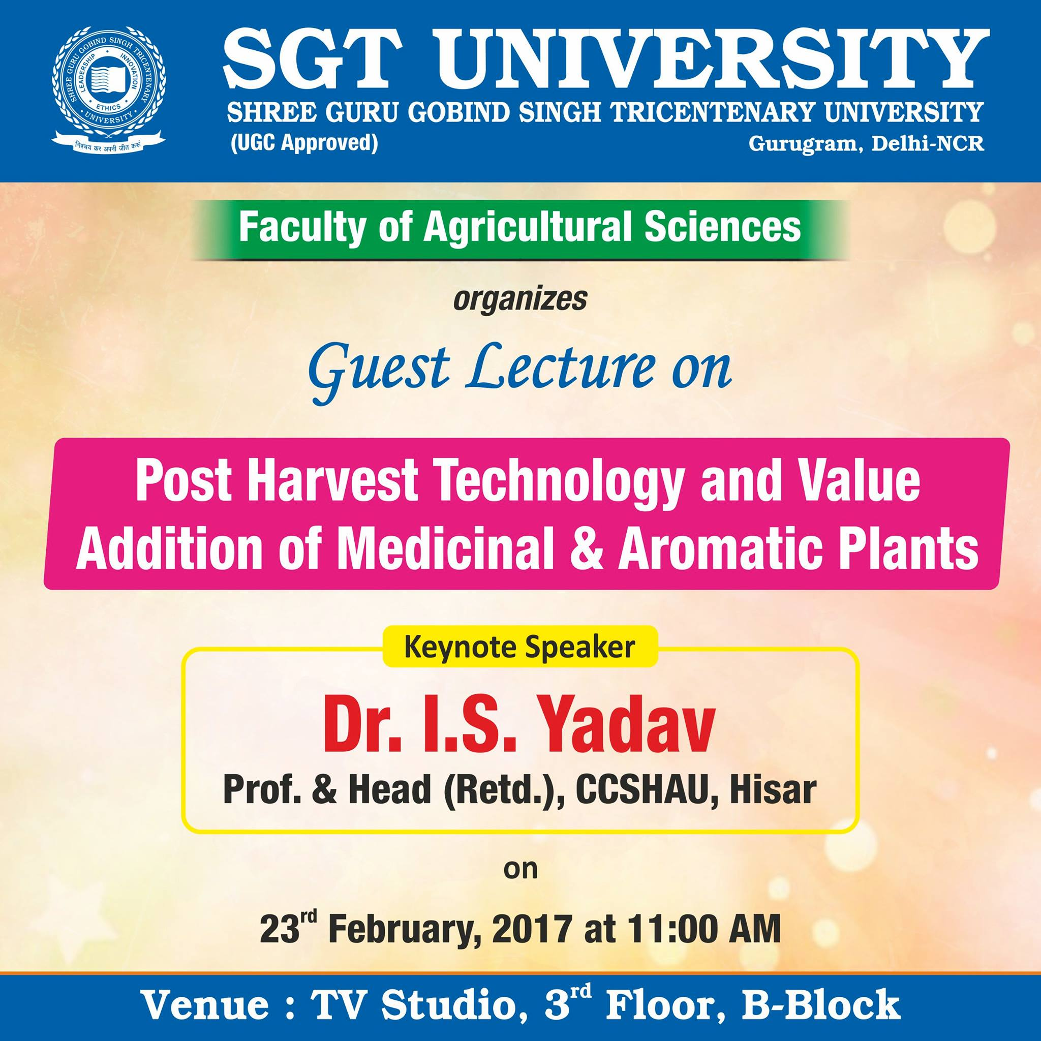 Guest lecture on Post Harvest Technology