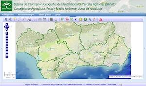 Mapa de Andalucía del sigpac.
