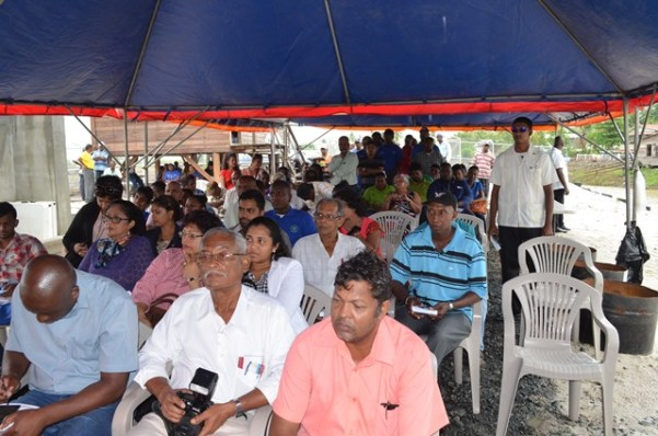 A section of those gathered for the commissioning ceremony of the drainage pump station at Gangaram