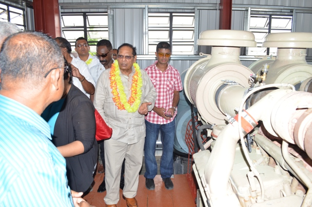 Prime Minister Moses Nagamootoo in the Lima pump station