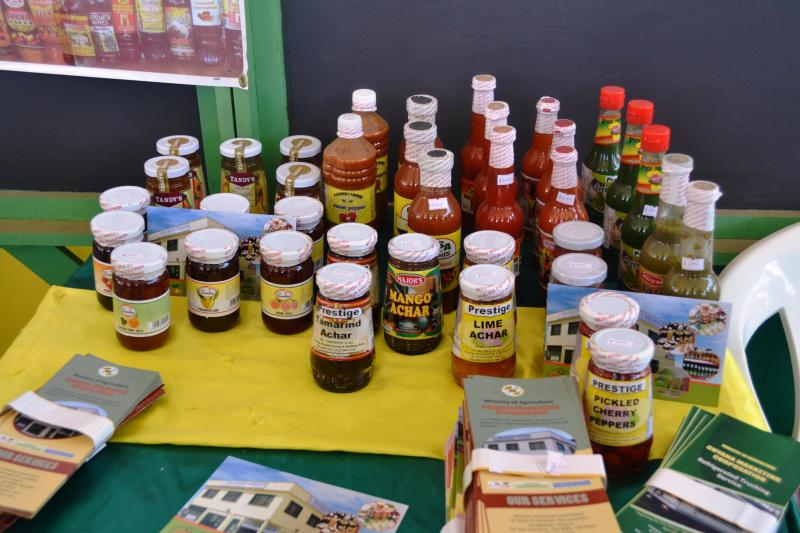 Some locally made products at the Rupununi Agri Expo