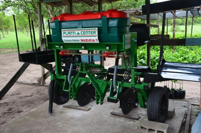 The National Agricultural Research and Extension Institute's (NAREI) Mechanical Harvesting machine