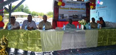 Minister Holder and other guests at the head table at the Fisherfolk Day 2016 celebrations