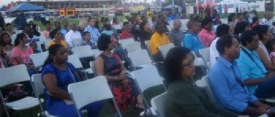 A section of the gathering at the opening ceremony of the Berbice Expo