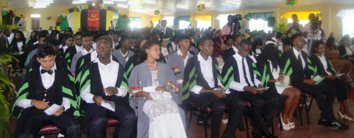 A section of the students during the graduation ceremoney