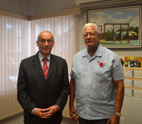 Agric Minister Noel Holder and Czech Republic Non-Resident Ambassador, H.E. Jiri Havlik