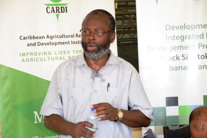 CARDI Country Representative, Dr. Cyril Roberts.
