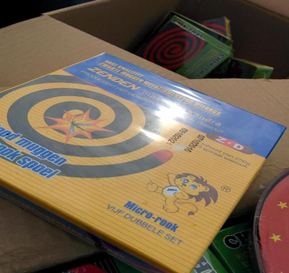 "The unregistered ""Zenden Mosquito Coil"""