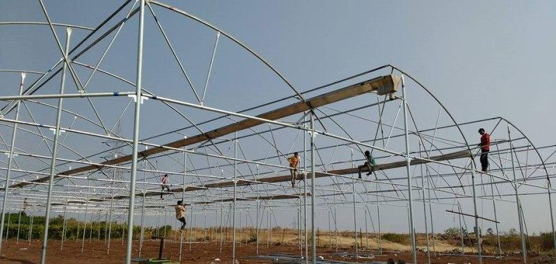 Polyhouse construction