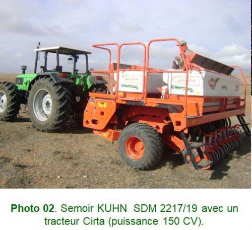 Materiel utilisé pour agriculture de conservation