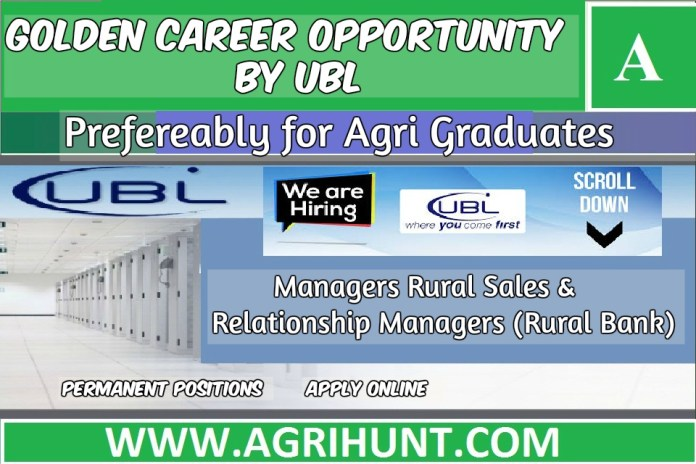 Relationship Managers (Rural Bank) Jobs in UBL