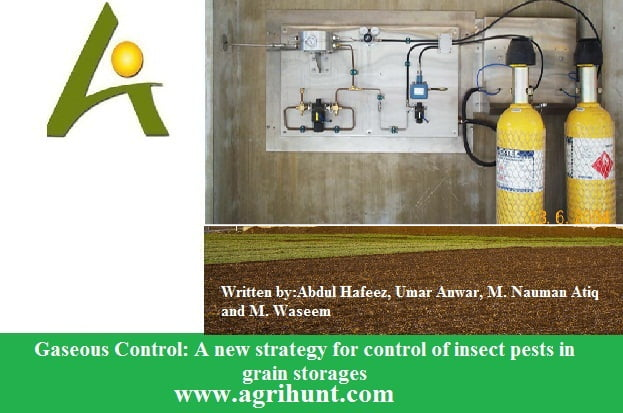 Gaseous Control: A new strategy for control of insect pests in grain storages