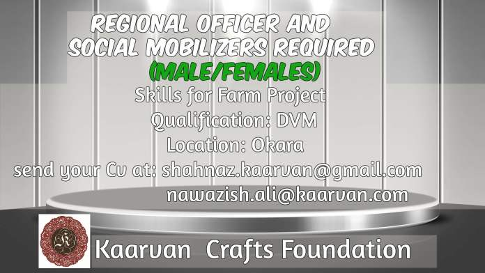 Regional Officer and Social Mobilizers are Required