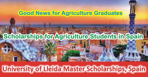 Spain University of Lleida Master Scholarships for Foreign Students 2018