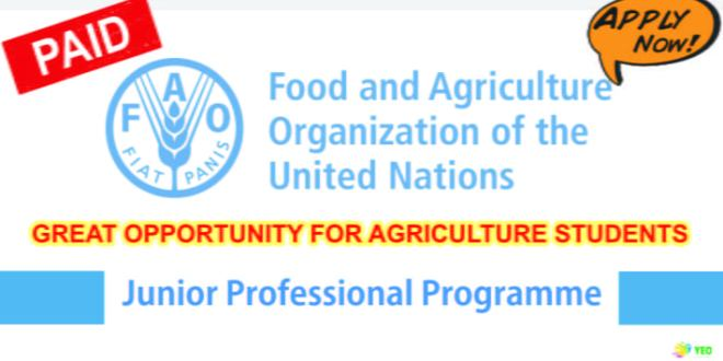 Food-and-Agriculture-Organization-of-United-Nations-(FAO)-Junior-Professional-Programme-2018