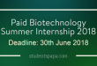 Paid-Biotechnology-Summer-Internship-2018-800x416