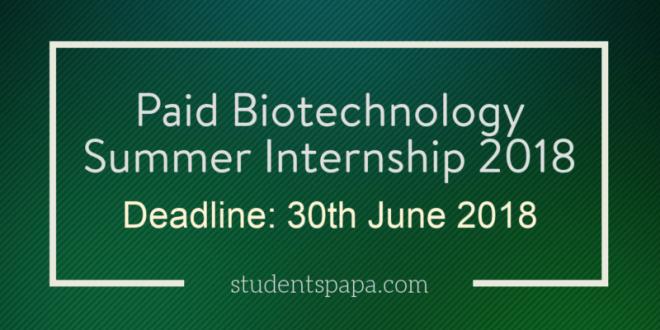 Paid-Biotechnology-Summer-Internship-2018-800x416